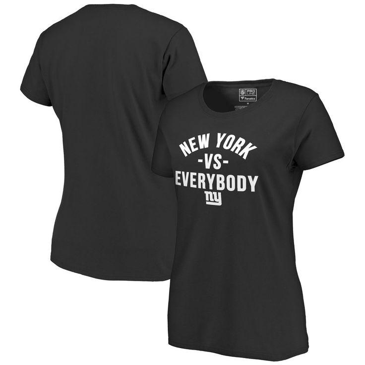 Women's Pro Line Black New York Giants Team vs. Everybody T-Shirt