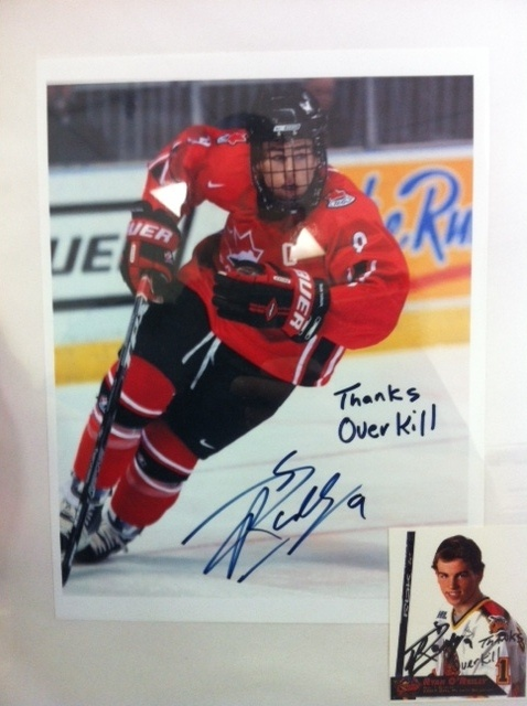 NHL star Ryan O'Reilly likes his Overkill. His signed photo on our Wall of Fame thanks us for some of the Overkill gear we have swung his way over the years.