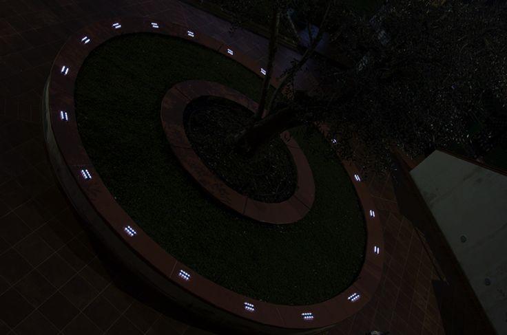 Geco modello da Incasso (esempio uso pubblico) **Luci Led a ricarica solare**Led Lights solar charged** #solar #light #led