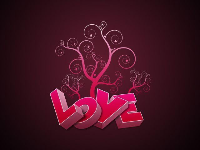 كلمة love وردي