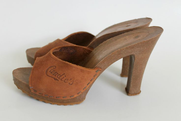 Flashback to the 70s: Vintage  Wooden Heels / Candies. Wow I remember having almost every color!