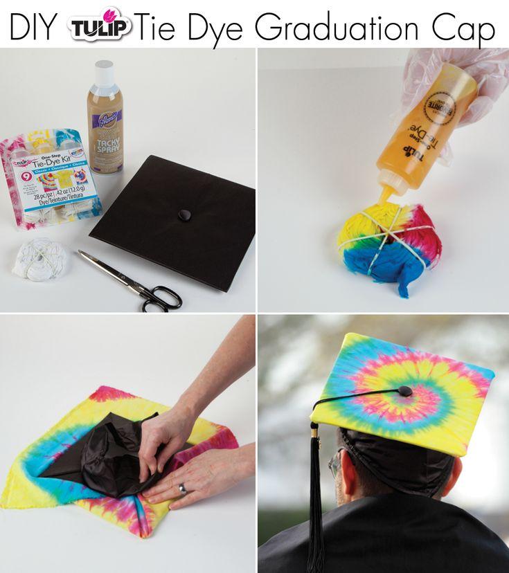 tie dye graduation cap using tulip one step tie dye such