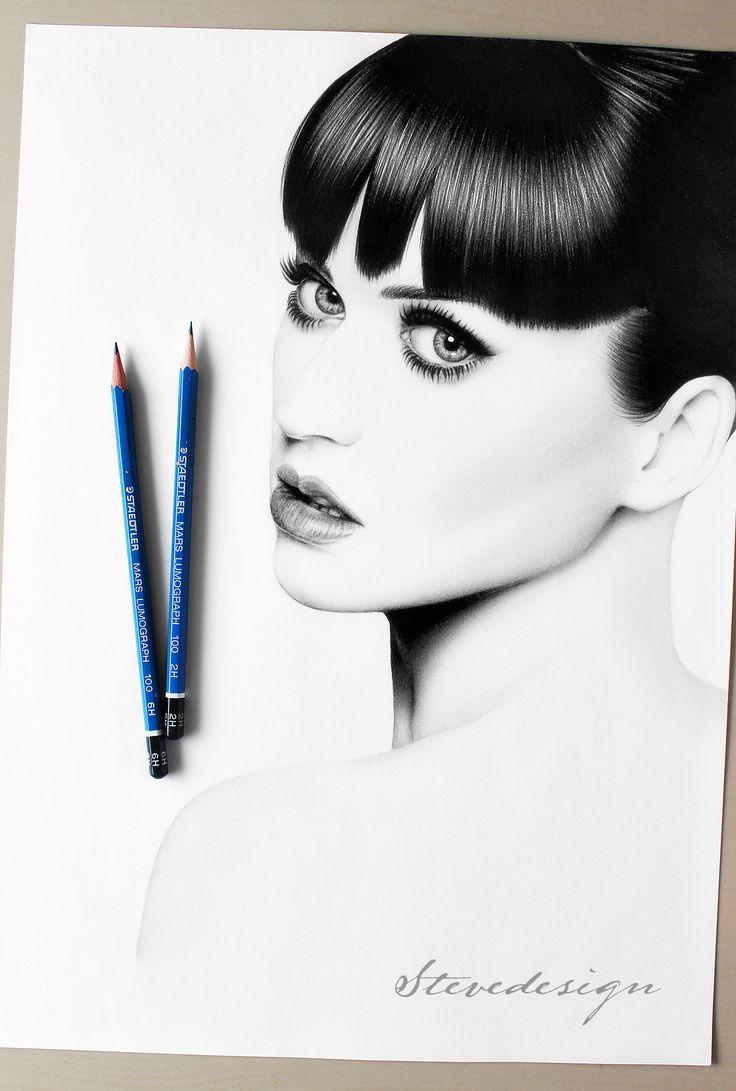 Katy Perry Kresba ceruzkou podľa StevedesignStudio