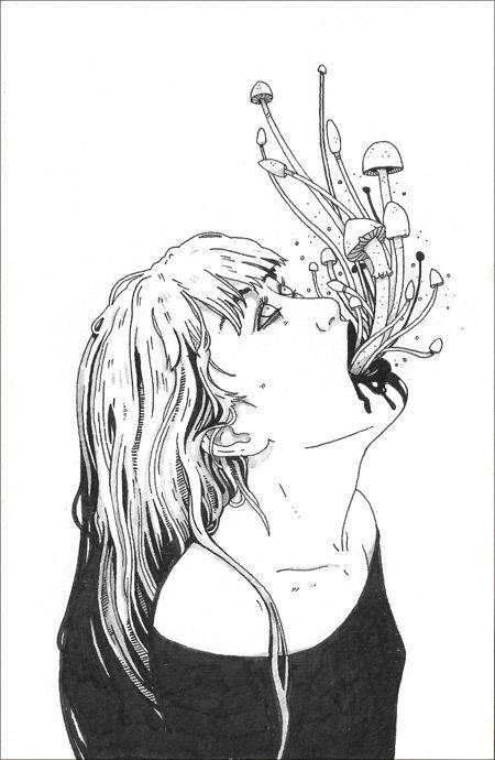 Creepy art cool creative original sketch sketching sketches