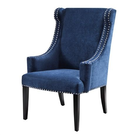 Best Marcel High Back Wing Chair Blue Accent Chairs Wing 400 x 300