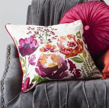 Isabella Square Burnt Orange Cushion - £39 | brandinteriors.co.uk