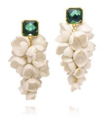 ANAIS GRAPE FLOWER EARRINGS by Tory Burch