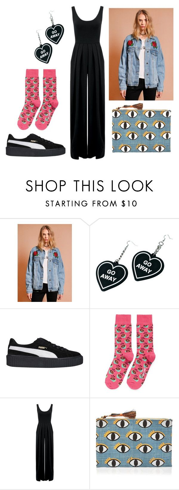 """""""#untitled4"""" by yuna92 on Polyvore featuring Witch Worldwide, Puma, Happy Socks, Nadia Tarr and Kayu"""