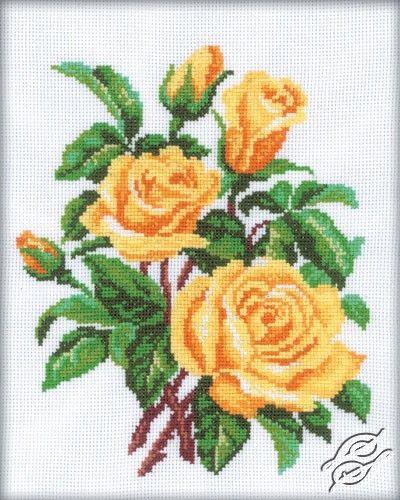 Yellow Roses - Cross Stitch Kits by RTO - M143