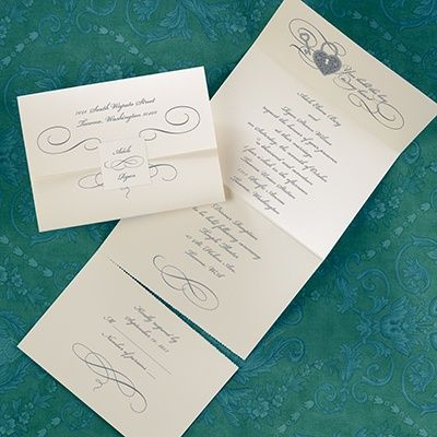 Wedding Invitations   Wedding Invites   Lock And Key   Seal U0027n Send   Ecru