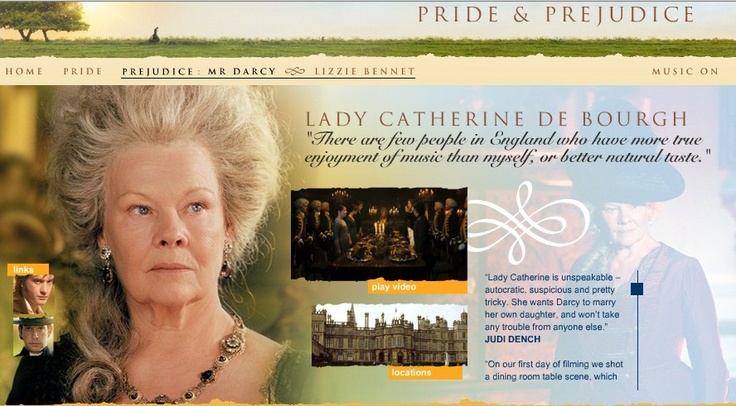 pride and prejudice lady catherine and elizabeth bennet essay Preview text: pride and prejudice, authored by  elizabeth bennet,  his money through inheritance and is in the command of the wealthy lady catherine.