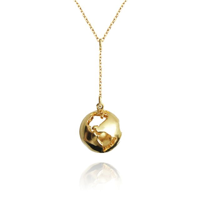 World Globe Pendant by Artelier  #fashion #style #glamour #beautiful #gold #color #necklace #jewelry #charm #pendant