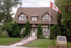The last home of John Diefenbaker, a former Prime Minister of Canada, in Prince Albert, Saskatchewan, Canada Each room is furnished with personal belongings of the Diefenbakers. Tours of the home are guided and the tour is free.