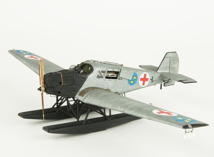 Model aeroplane Junkers F 13. Skala 1:72   Flygvapenmuseum   CC BY