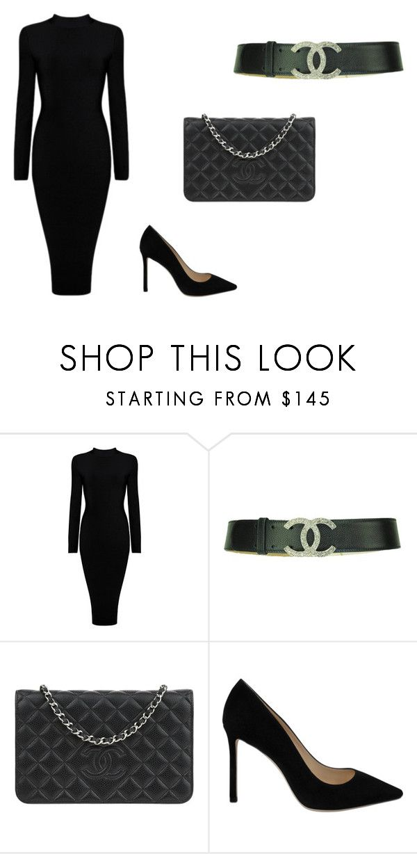 Classic black by eda-kunics on Polyvore featuring Jimmy Choo and Chanel