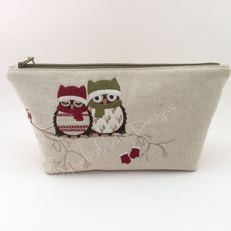 Owl Cosmetic Bag, Pencil Case, Storage Bag – can be personalised