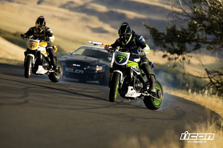 motorcycles//drift//icon//police//pursuit