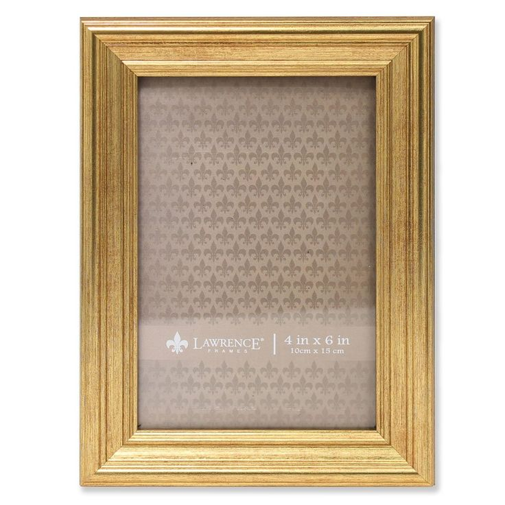 Amazon.com - Lawrence Frames Sutter Burnished Picture Frame, 4 by 6-Inch, Gold -