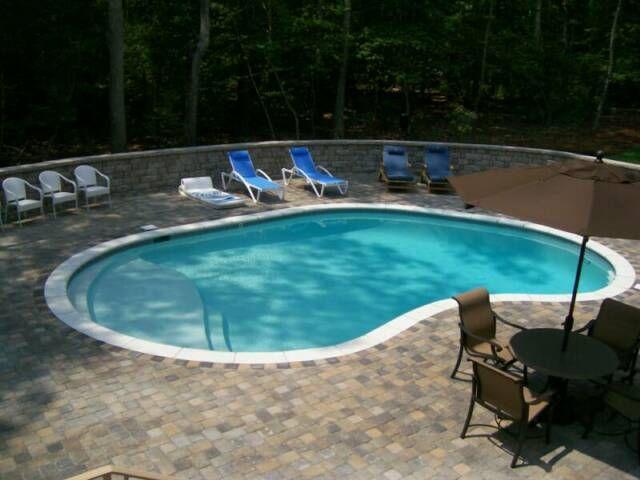 Great Tumbled Cobblestone Concrete Paver Pool Deck