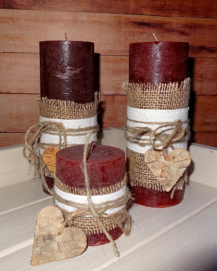 Versierde kaarsen. DIY