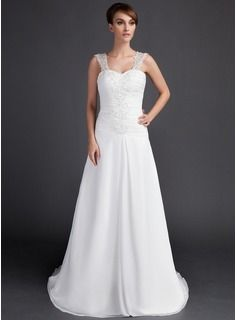 $185.99 - A-Line/Princess Sweetheart Court Train Chiffon Wedding Dress With Ruffle Lace Beadwork  http://www.dressfirst.com/A-Line-Princess-Sweetheart-Court-Train-Chiffon-Wedding-Dress-With-Ruffle-Lace-Beadwork-002000061-g61