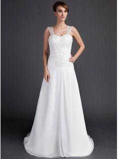$185.99 - A-Line/Princess Sweetheart Court Train Chiffon Wedding Dress With Ruffle Lace Beadwork  http://www.dressfirst.com/A-Line-Princess-Sweetheart-Court-Train-Chiffon-Wedding-Dress-With-Ruffle-Lace-Beadwork-002000061-g61
