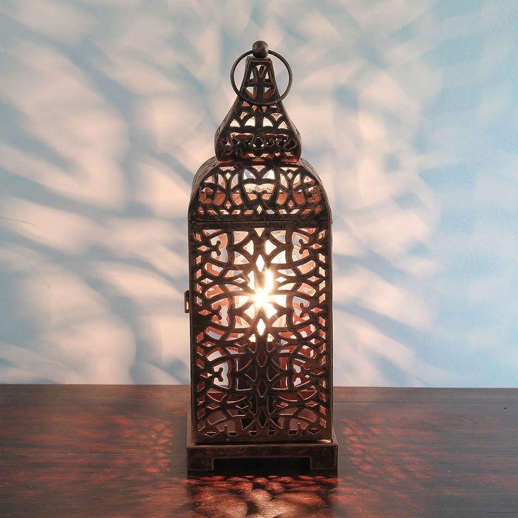 Moroccan Copper Lantern Table Lamp | Dunelm #mymoroccantable