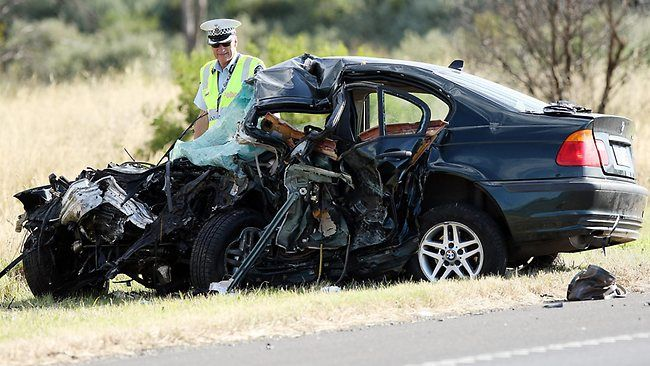 Two males and three females, whose ages are yet to be released, were killed  just after 1am in Lara, about 15km north-east of Geelong when a car, travelling on the wrong side of the Princes Freeway near Avalon Rd, collided with a car travelling to Melbourne.