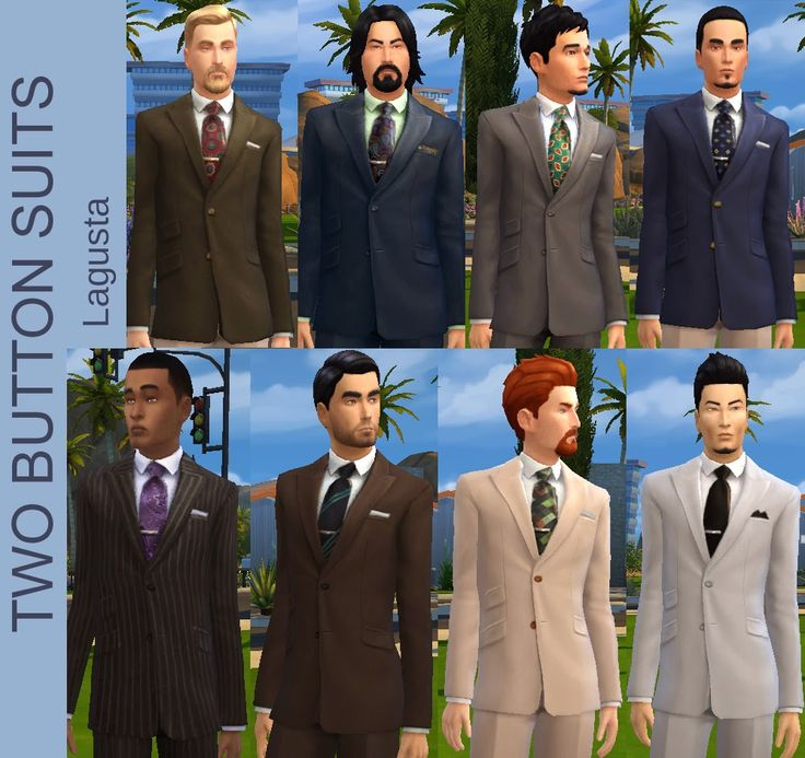 My Sims 4 Blog: Eight new Single-Breasted Two-Button Suits for you...