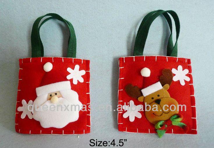 regalo de navidad bolsas de fieltro-imagen-Adornos navideños-Identificación del producto:1108347164-spanish.alibaba.com
