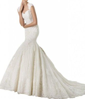 Gorgeous Bridal Exquisite Lace Mermaid Long Wedding Dresses Sweetheart  Gorgeous Bridal