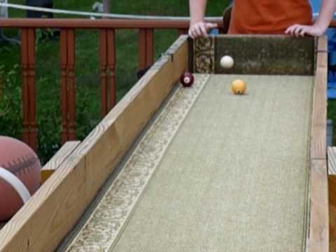 Outdoor Carpet Ball Table Also Called Gutter Ball