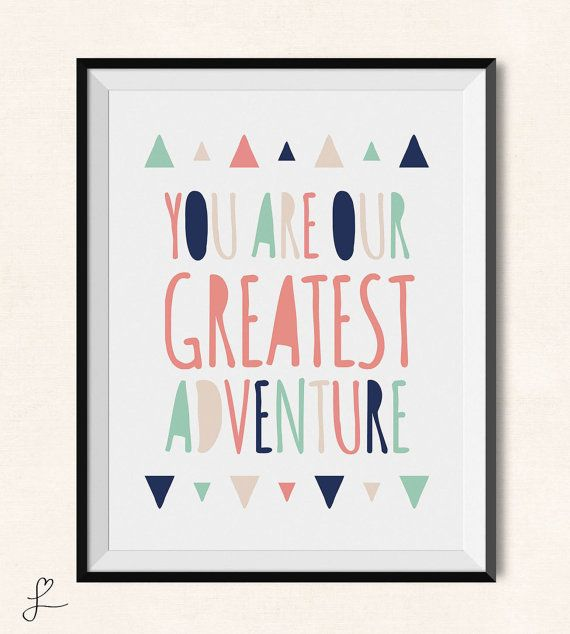 Aztec Nursery Print / You Are Our Greatest by LovelyLettersDesign