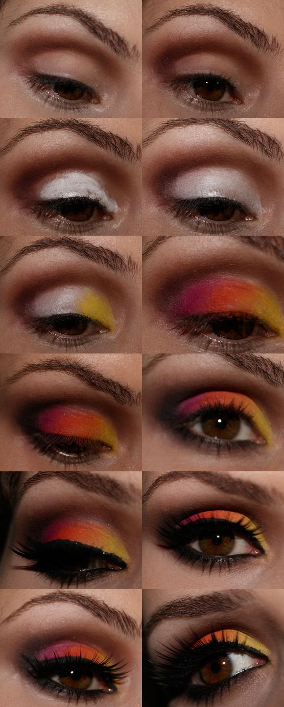 Colorido para Carnaval: Makeup Tutorials, Eye Makeup, Eye Shadows, Dolled Up Makeup, Hairstyles Makeup, Am The Eyes, Makeup Ideas, Make Up Tutorials, Makeup Face