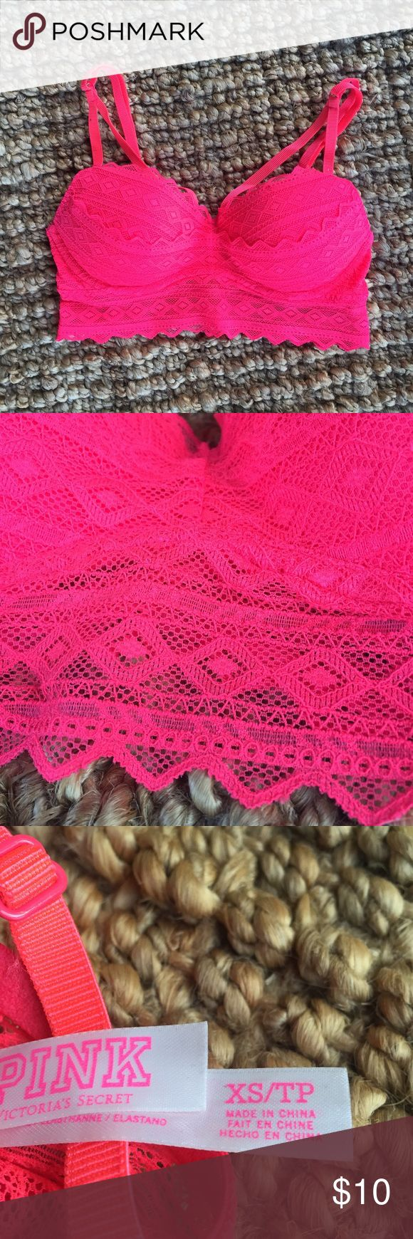 Victoria's Secret Padded Bralette This bralette is in brand new condition, it is too small for me. Has push up padding and looks so cute under big flowy tshirts!! Victoria's Secret Intimates & Sleepwear Bras