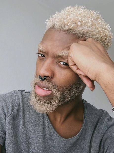 Black Man With Blonde Hair Mens Hair Inspiration Ideas Men