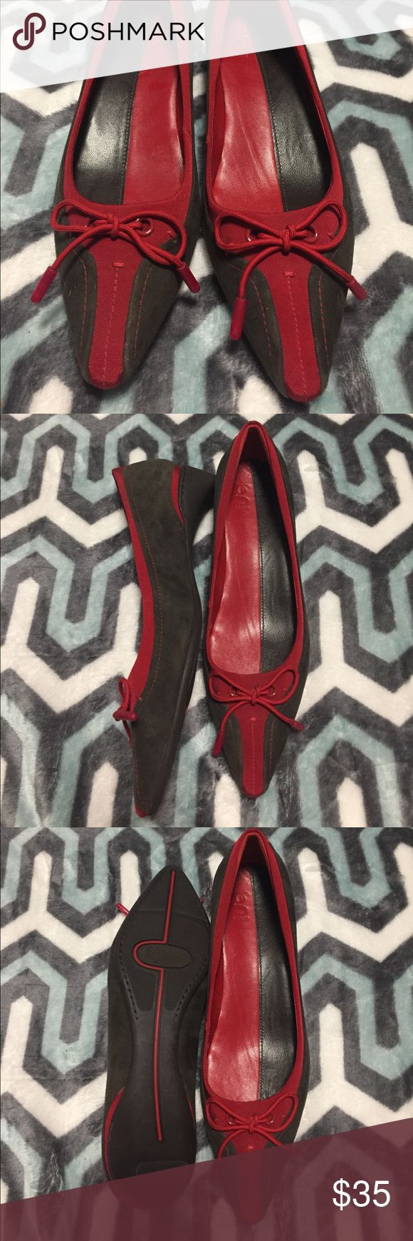"❤️NWOT ❤️Cole Haan G Series shoes One of a kind and very rare. Never worn Cole Haan red and brown 1"" pumps with unique heel Cole Haan Shoes"