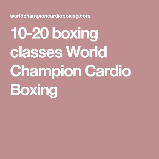 10-20 boxing classes World Champion Cardio Boxing