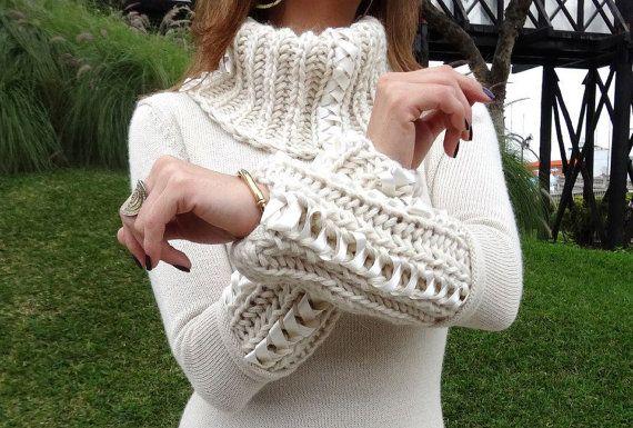 Gorgeous sweater made of 100 baby alpaca. Collar by Babyalpakka, $279.00