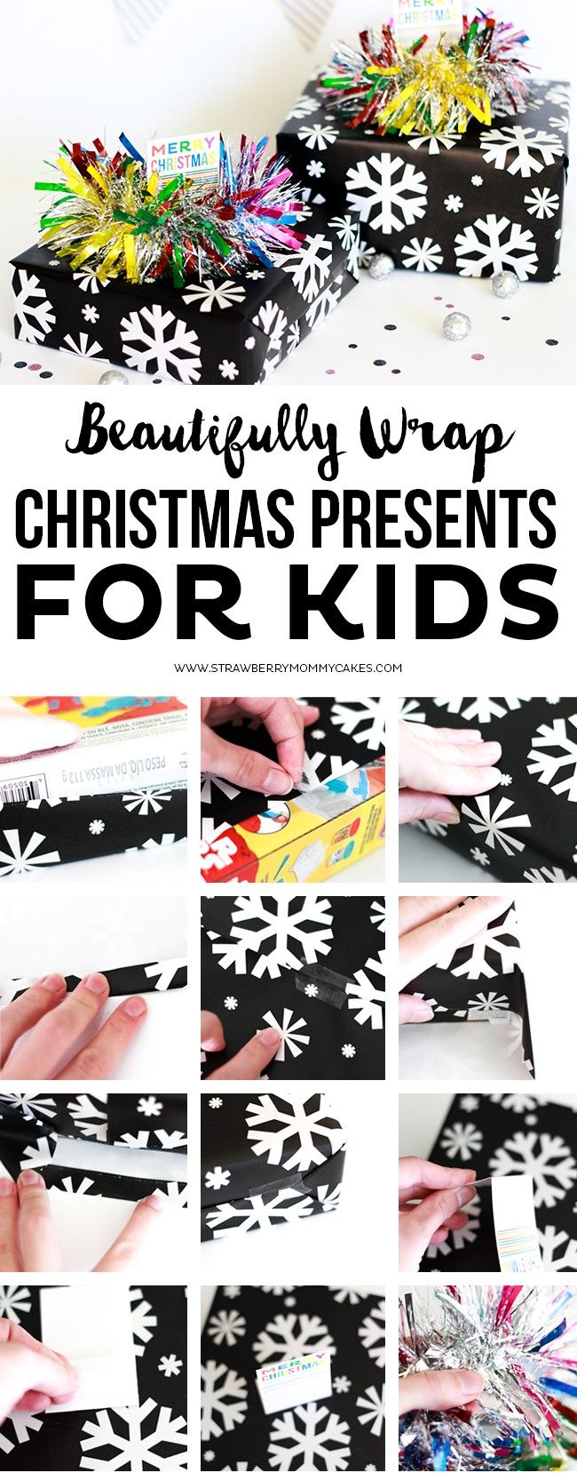 How to Beautifully Wrap Christmas Presents for Kids. I love this Christmas Garland from @BigLots and my kids are going to LOVE what's inside! #BigSeason #BigLots [ad]