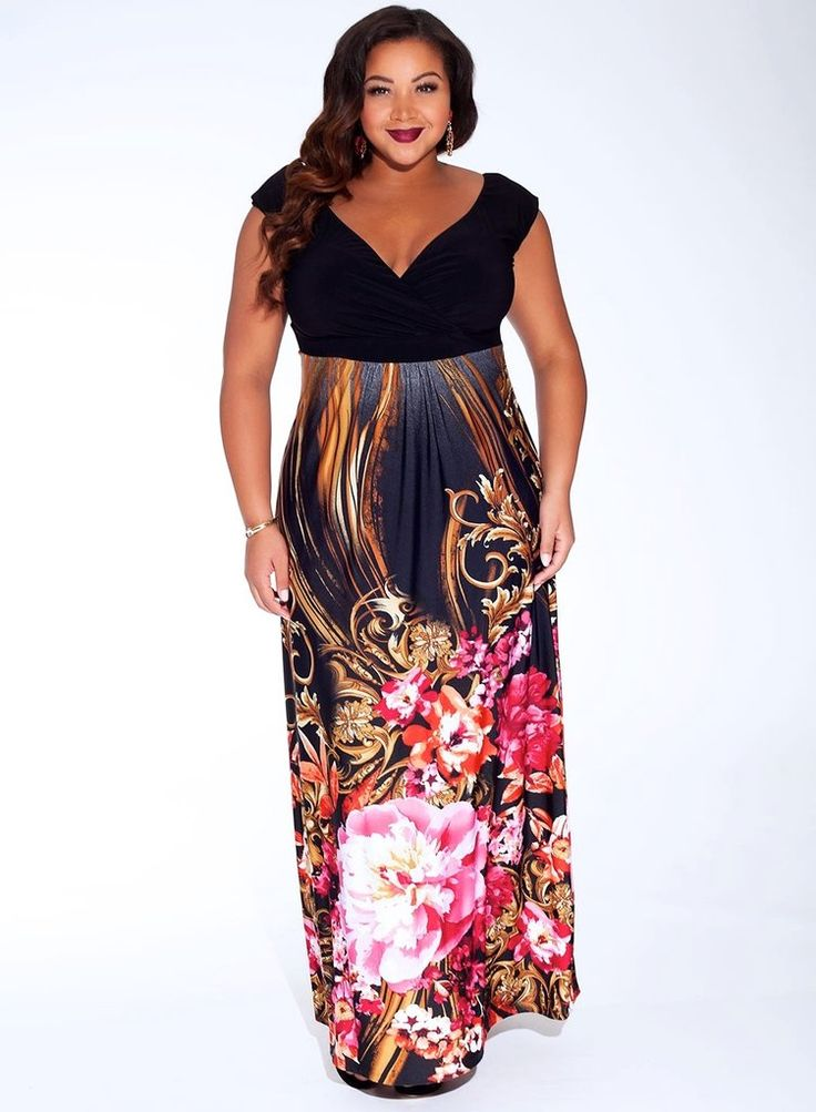 Sylvia Plus Size Maxi Dress  #plussizefashion #plussizemaxidress #eveninggowns  #floraldress #exclusivedesign #exclusive #ladyplusfashion #stylish  #gorgeousdress