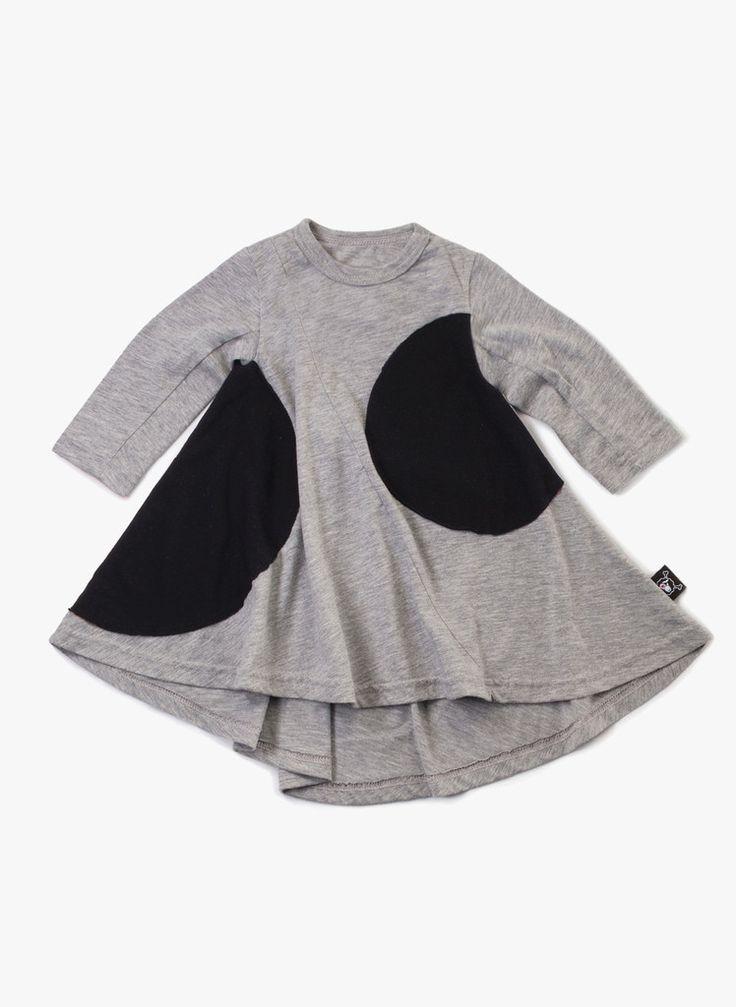 Nununu 360 Circle Dress in Heather Grey - NU0845