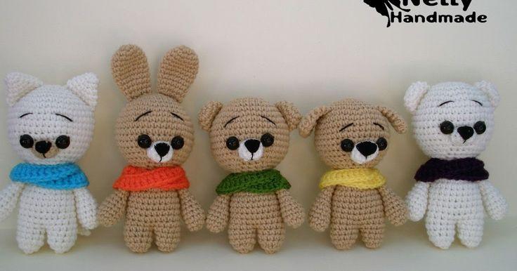 800 схем амигуруми на русском: Малыши мишка, зайка и котик