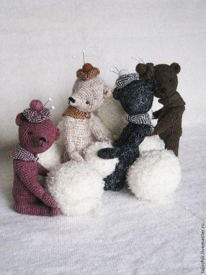 Твидовые мишки - мишка,медведь,мишка ручной работы,мишка в подарок,Вязание крючком
