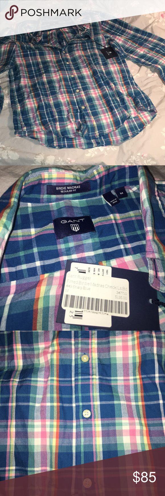 Men's plaid shirt Brand new plaid shirt, still has tags on. 100% cotton. Gant Shirts Casual Button Down Shirts