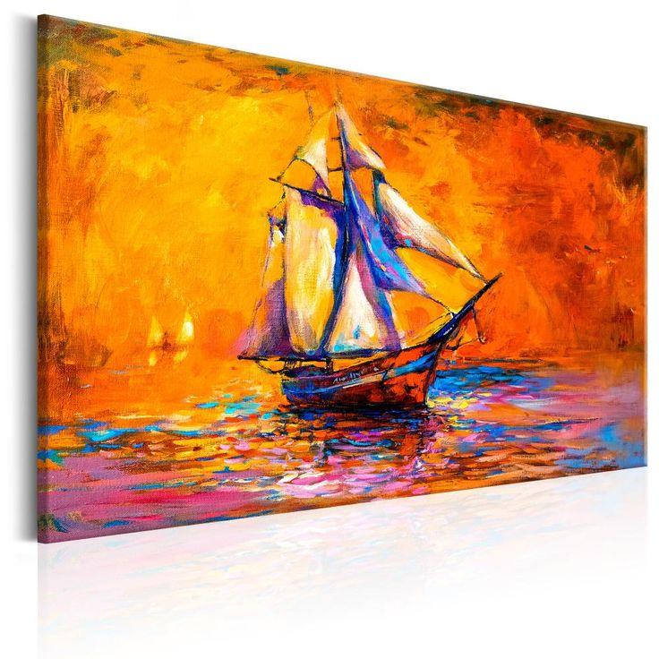 Paysage marin dans le salon sera un souvenir agréable de vacances gardé pour plus longtemps  #mer #tableaux #paysages #marin #bateau #bateaux #vacances #été