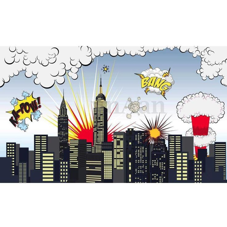 5x3ft Superhero City Building Photography Background Studio Photo Backdrop Props | eBay