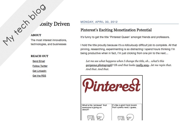 Where I've written a lot about Pinterest, innovation, technology.
