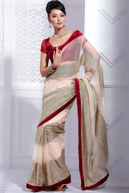 Light Pink Saree with Blouse