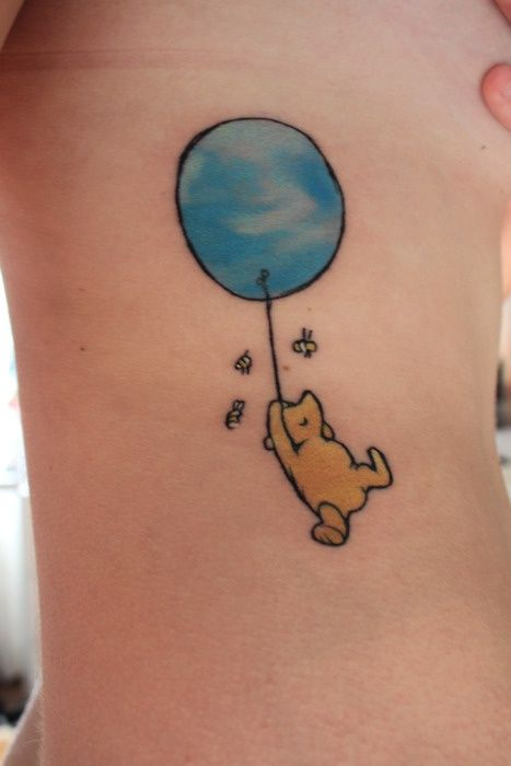 I would totally get a Winnie the Pooh tattoo, because that is the sort of person I am. (Look at how cute that is! <3)